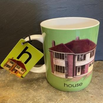 Designed in Colour (Ladybird) Alphabet Mug - H is for House