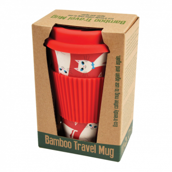 SALE! Rex Bamboo Cup - White Cat