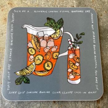 Katie Cardew Coaster - Cocktails
