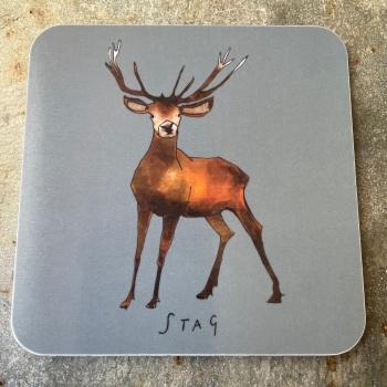 Katie Cardew Coaster - Stag