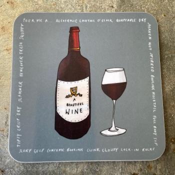 Katie Cardew Coaster - Wine