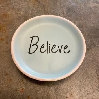 Lisa Angel Tiny Trinket Dish - Believe