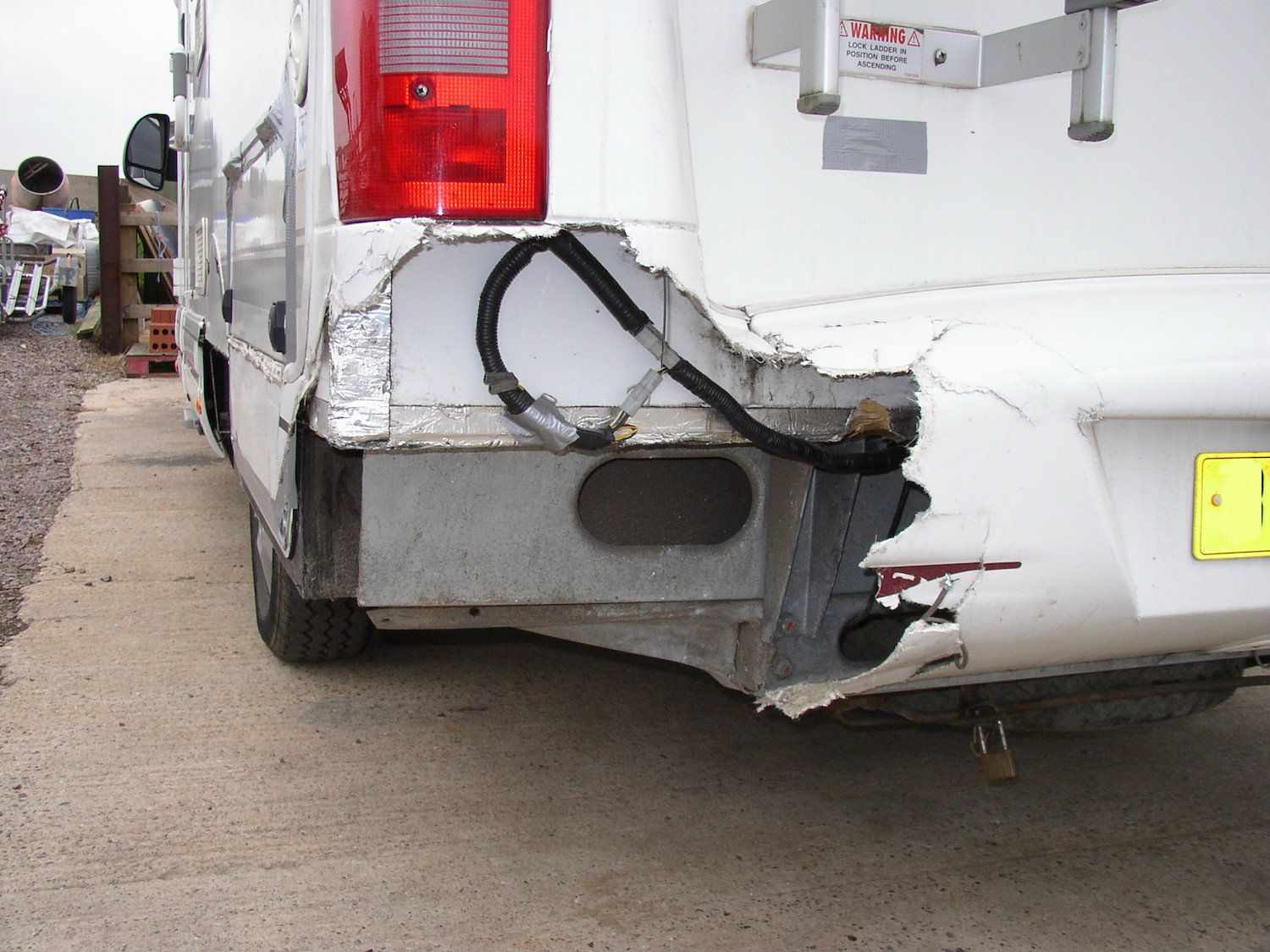 Damaged Motorhome