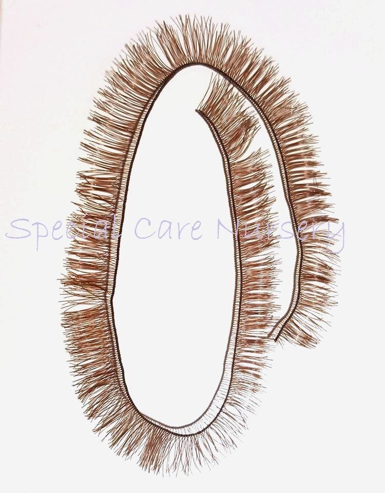 Brown eyelash strip 8mm lashes - 20cm long