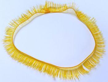 Bright orange 8mm eyelash strip - 20cm long.