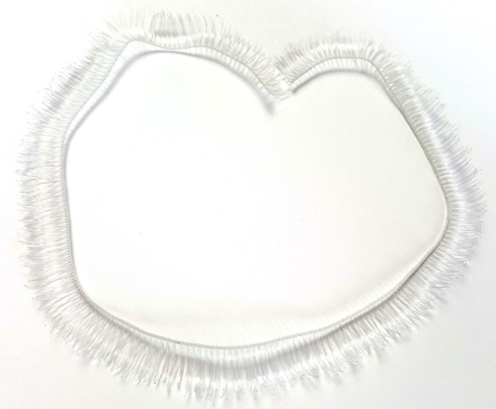Palest grey 8mm eyelash strip - 20cm long.