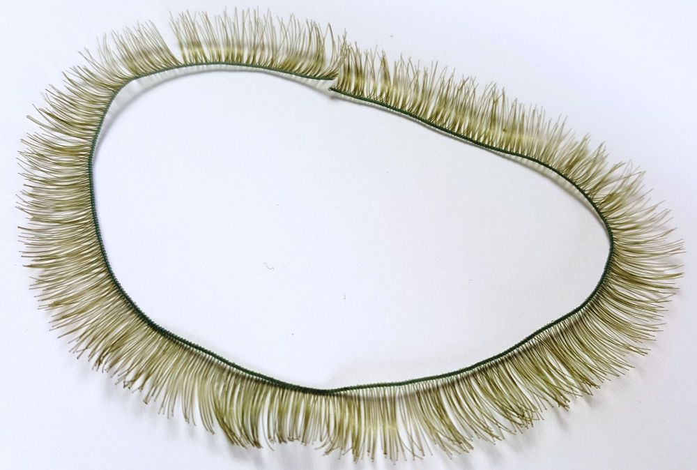 10mm long moss green eyelash strip - 20cm long.