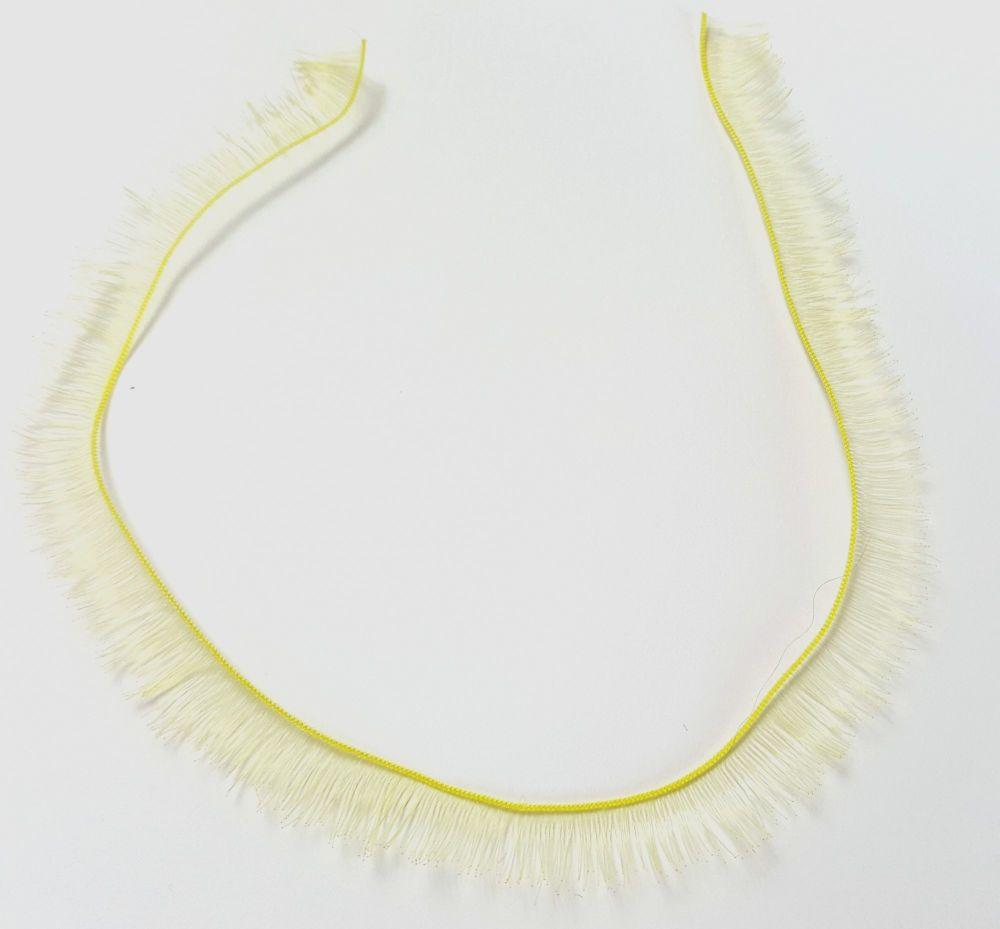 Pale lemon 8mm eyelash strip - 20cm long.