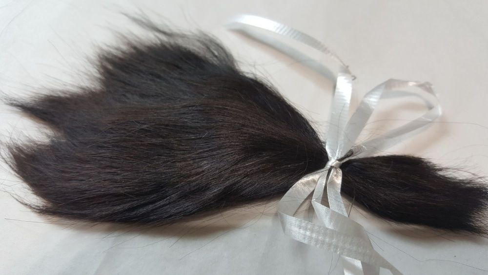 Black - with a tint of brown - premium alpaca (6) 4.6 grams SMALL QUANTITY