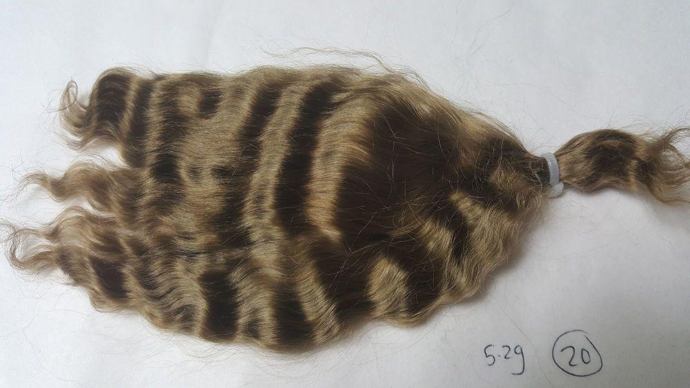 20 - Medium brown loose weave yearling - Mohair - 5.2g