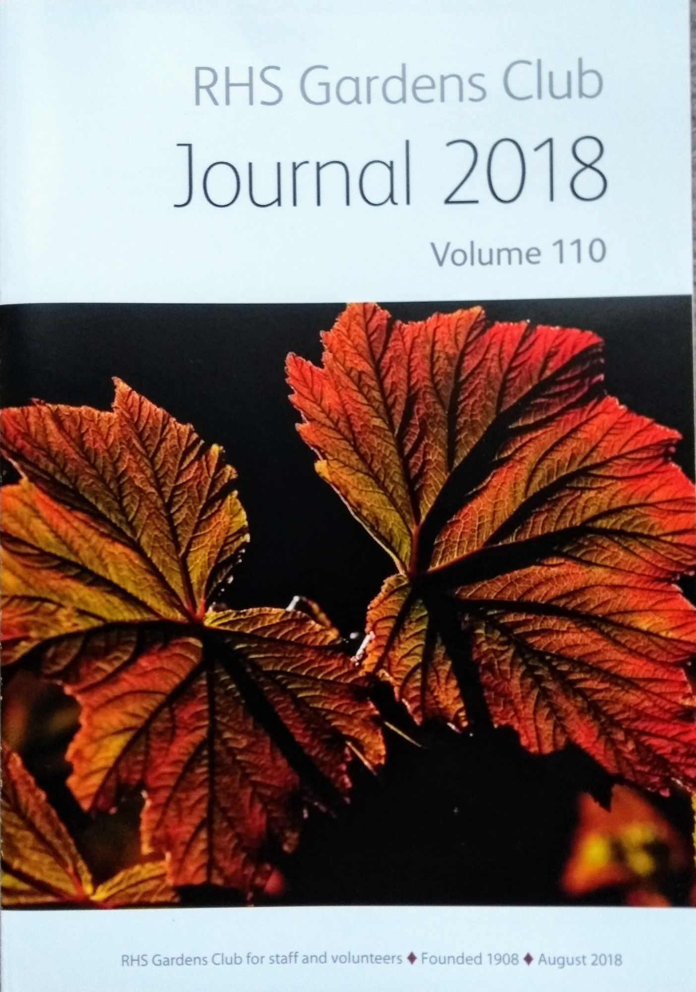 RHS Gardens Club Journal
