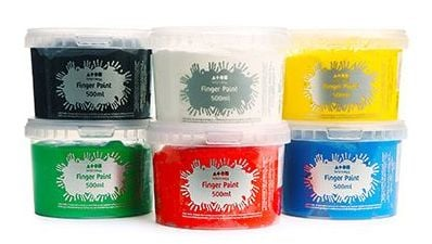 Finger Paint - Assorted - 500ml - Pack of 6