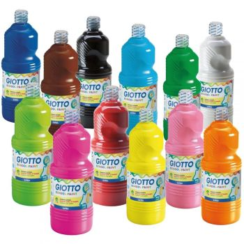 Giotto Washable School Paint - Please Select Colour - 500ml - Each
