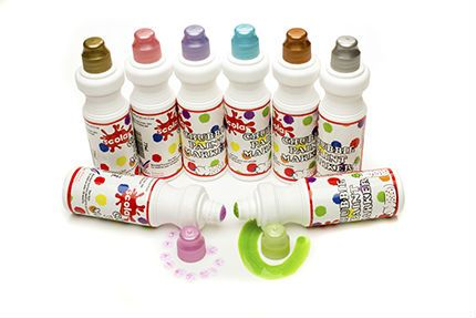 Chubbie Pearlescent Paint Markers - Assorted - 75ml - Pack of 8