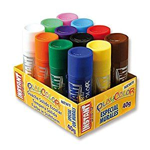 Playcolor Solid Jumbo Paint Sticks - Assorted - 40g - Pack of 12