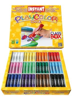 Playcolor Solid Paint Sticks - Assorted - 10g - Class Pack of 144