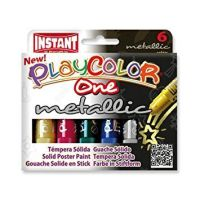 Playcolor Metallic Solid Paint Stick - Assorted - 10g - PC10321 - Pack of 6