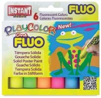 Polycolor Fluorescent Solid Paint Sticks - Assorted - 10g - PC10431 - Pack of 6