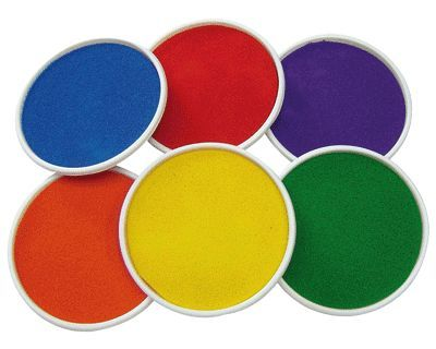 Giant Painting Ink Pads - Assorted - 15cm - Pack of 6