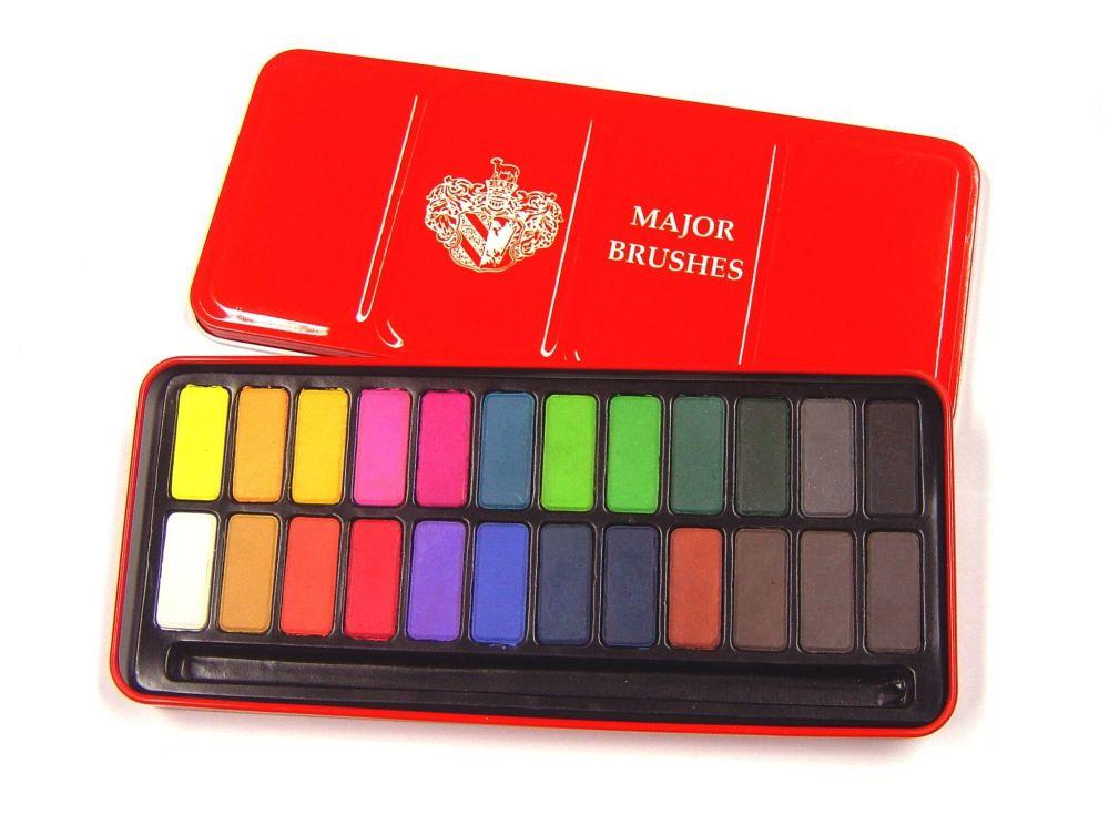 Watercolour Tablet Paint Tin - 24 Colour - 223 x 105mm - Each