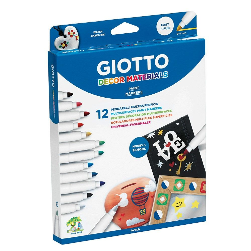 Giotto Décor Pens - Assorted - Pack of 12