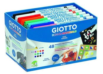 Giotto Décor Pens - Assorted - Class Pack of 48