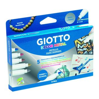 Giotto Metallic Decor Pens - Assorted - Pack of 5
