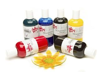 Glass Paints - Assorted - 6 x 150ml - Pack of 6