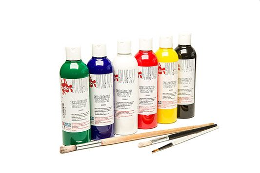 Fabric Paints - Assorted - 300ml - Pack of 6