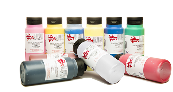 Scola System Acrylic Paint - Assorted - 500ml - Pack of 10
