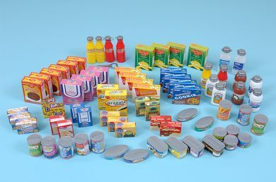 Plastic Supermarket Set - Assorted - Pack of 75
