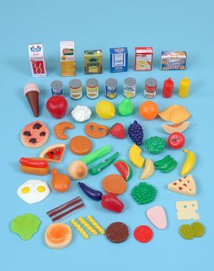 Plastic Grocery Food Set - Assorted - Pack of 75