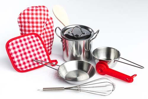 Stainless Steel Cookware Set - Assorted - Pack of 9