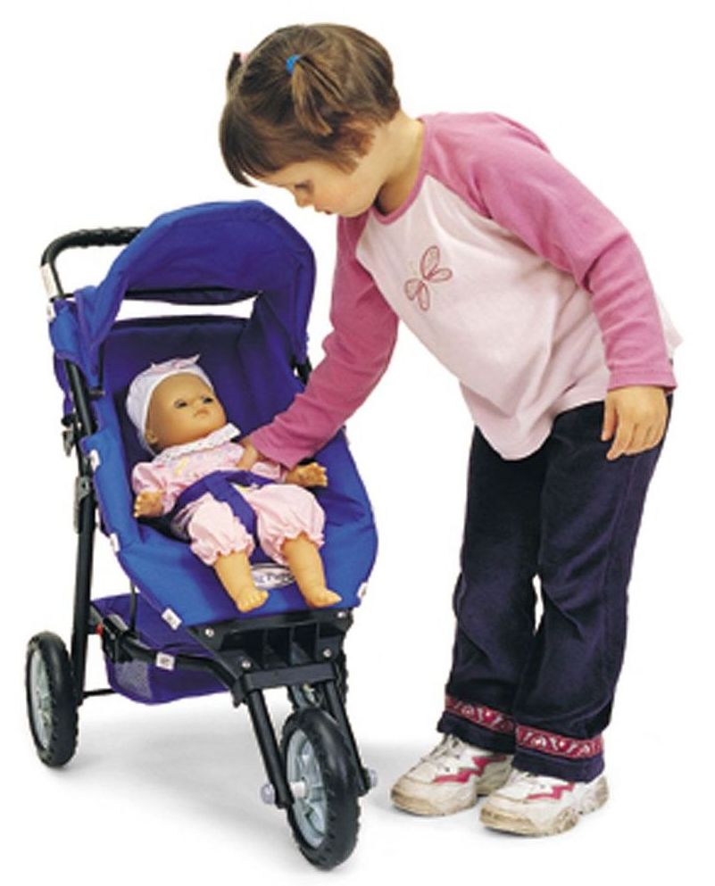 Childrens 3 Wheel Stroller - 63.5 x 37.5 x 56cm - Each