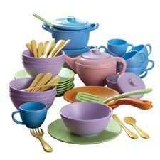Eco-Green Dinner & Tea Set - Assorted - Pack of 55