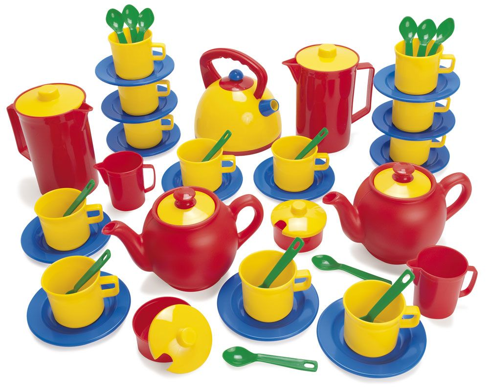 Bumper Plastic Tea & Coffee Set - Assorted - Pack of 53