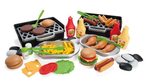 Plastic Barbecue Set - Assorted - Pack of 79