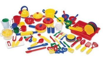 Bumper Plastic Kitchen Accessory Set - Assorted - Pack of 73