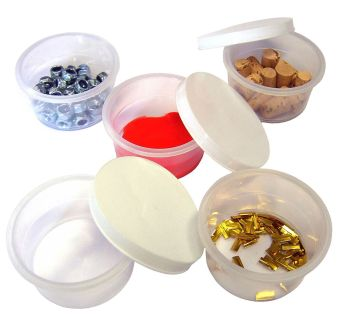Mixing Pots with Lids - 3 x 6cm - Pack of 12
