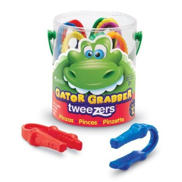 Childrens Gator Grabber Plastic Tweezers - Assorted - Tub of 12