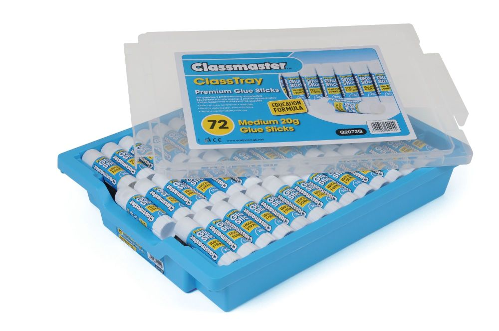 Classmaster Medium 20g Glue Sticks - Class Tray of 72