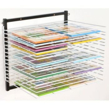 Wall Mounted 20 Shelf Wall Mounted Drying Rack - 61 x 50 x 41cm - Each