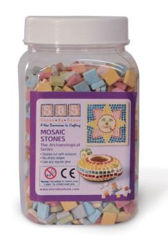 Mosaic Stones - 22 Assorted Colours - 1kg Tub - Each