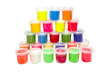 Bright Coloured Soft Dough Tubs - Assorted - 150g - Pack of 6