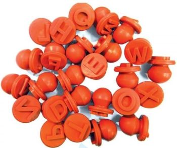 Easi-Grip Upper Case Letter Stampers - Assorted - Pack of 26