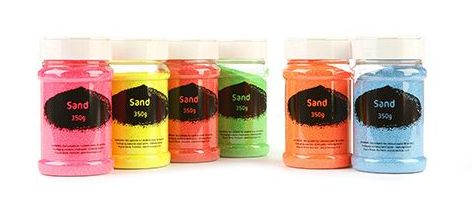 Fluorescent Sand Shakers - Assorted - 8 x 350g - Pack of 8