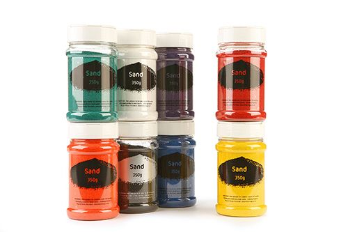 Sand Shakers - Assorted - 8 x 350g - Pack of 8