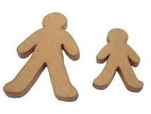 Papier Mache People - Assorted - Pack of 10