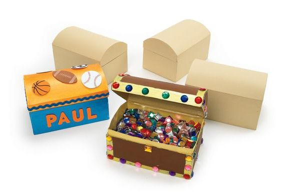 Papier Mache Treasure Chests - Assorted - Pack of 3