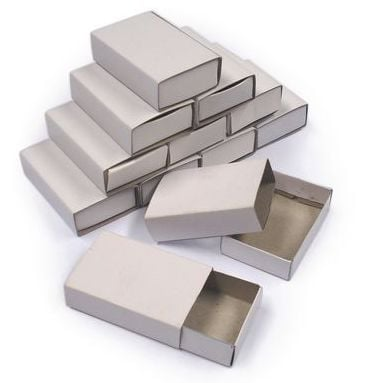 Plain Cardboard Matchboxes - 5 x 3.5 x 1.5cm - Pack of 50